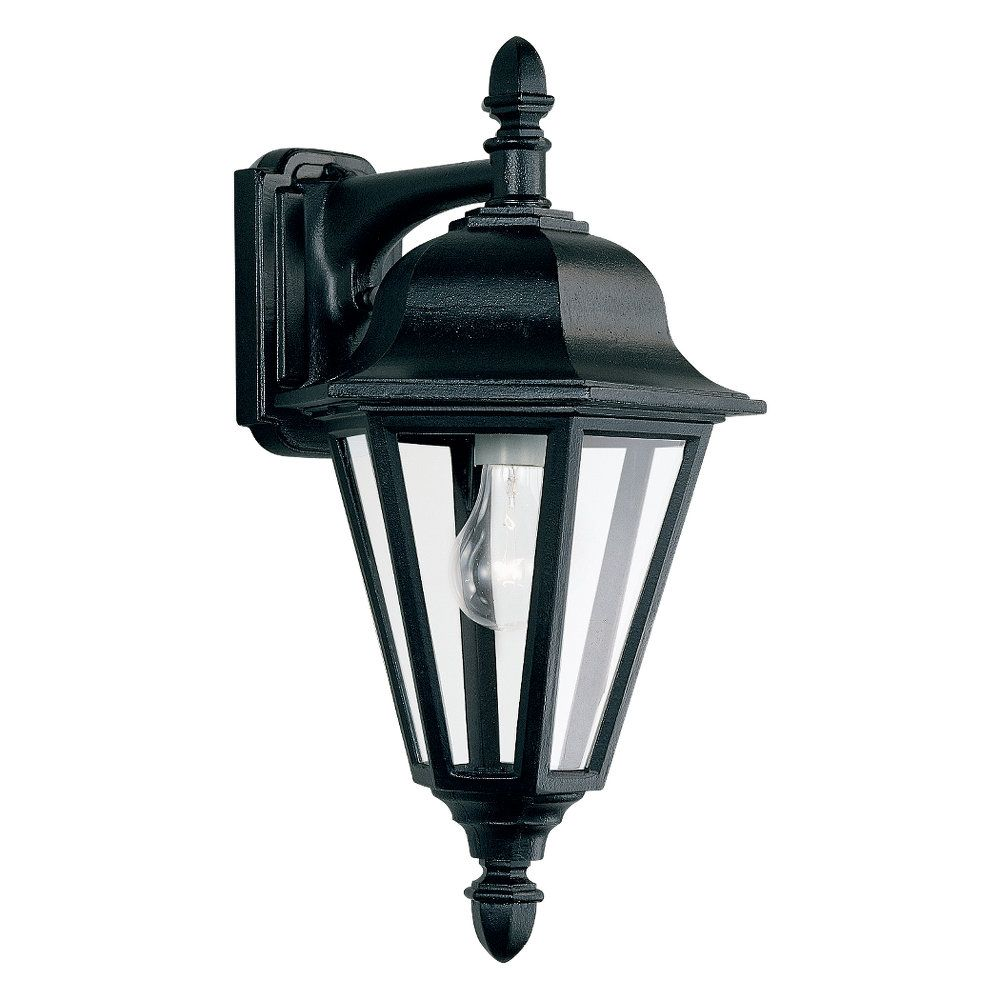 1 Light Black Incandescent Outdoor Wall Lantern 8825-12 Canada Discount
