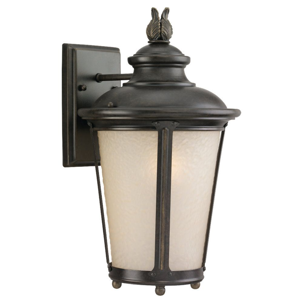 1 Light Burled Iron Incandescent Outdoor Wall Lantern