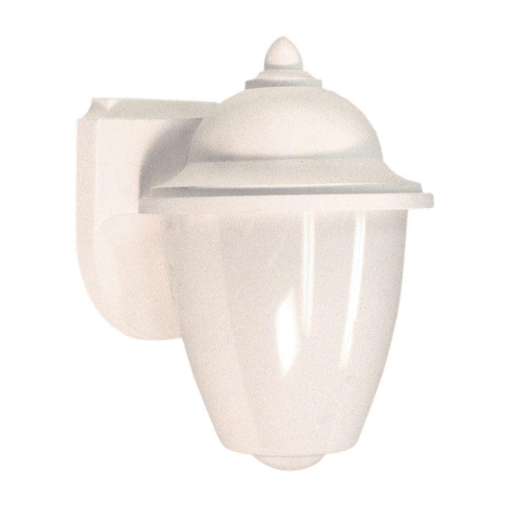 1-Light White Outdoor Wall Lantern