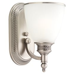 Sea Gull Lighting 1 Light Antique Brushed Nickel Incandescent Sconce