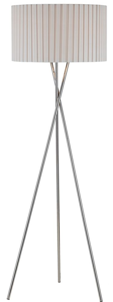 60 in Floor Lamp, Chrome Finish