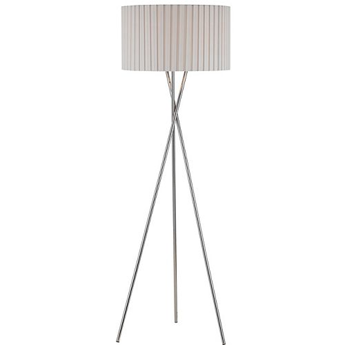 Hampton Bay 60 in Floor Lamp, Chrome Finish