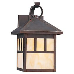 Sea Gull Lighting 1 Light Antique Bronze Incandescent Outdoor Wall Lantern