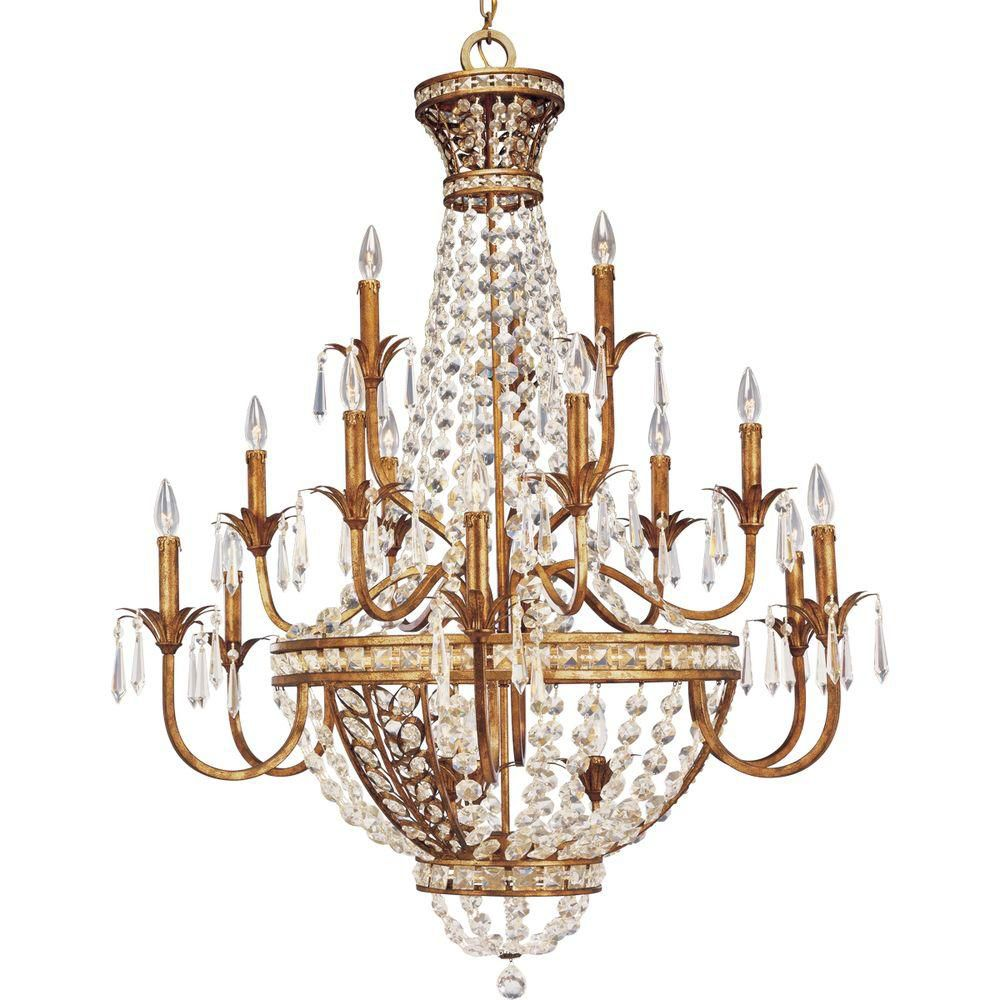 Palais Collection Imperial Gold Eighteen-Light Chandelier