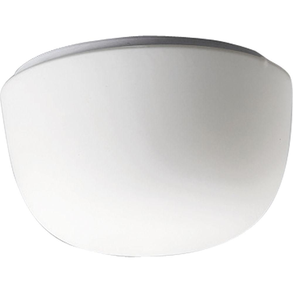 Swirled Glass Collection White One-Light Close-to-Ceiling