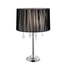 Hampton Bay LOGAN Chrome Table Lamp