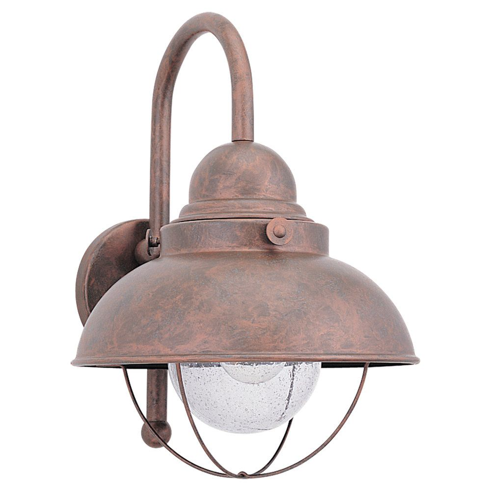 1 Light Weathered Copper Incandescent Outdoor Wall Lantern 8871-44 Canada Discount