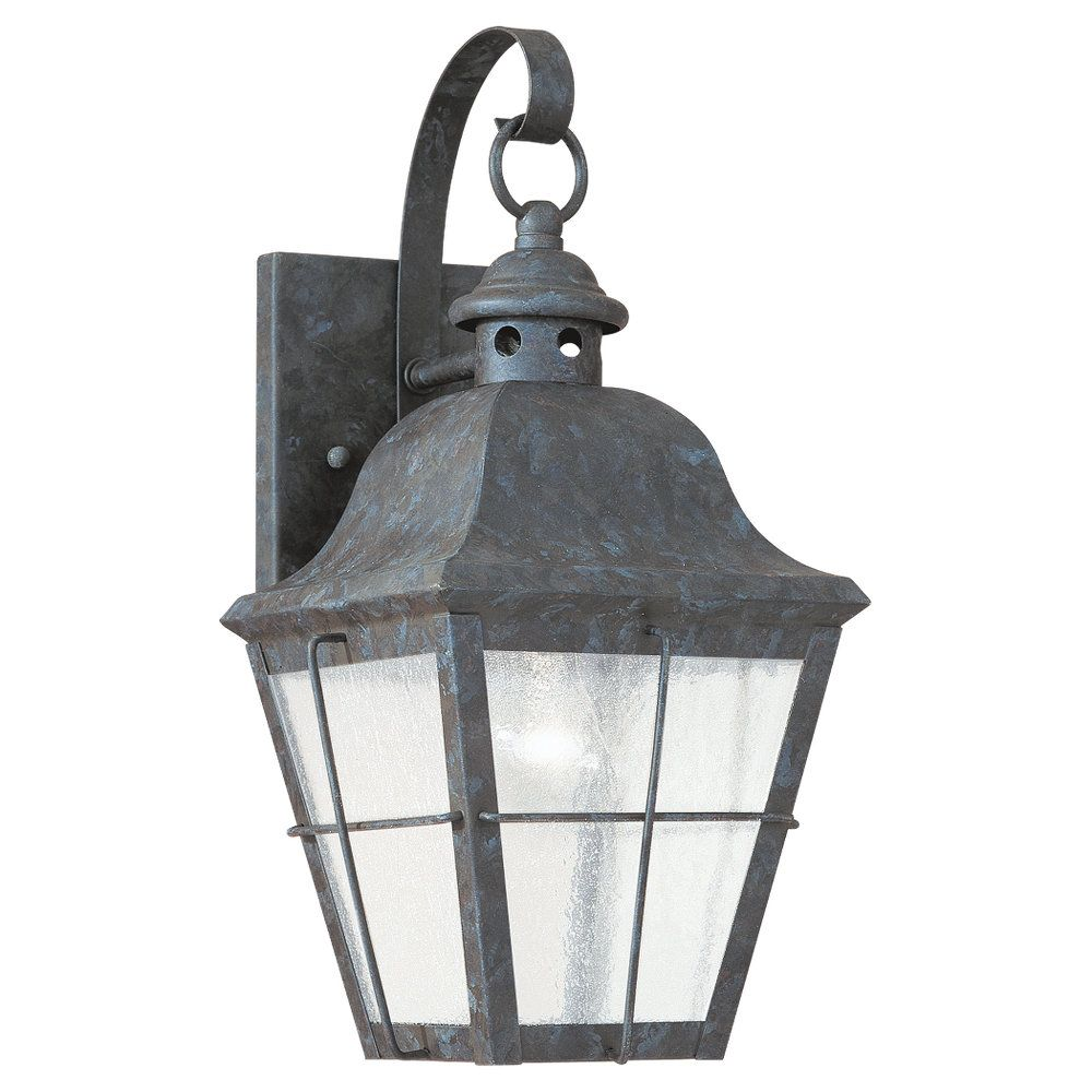 1-Light Oxidized Bronze Outdoor Wall Lantern