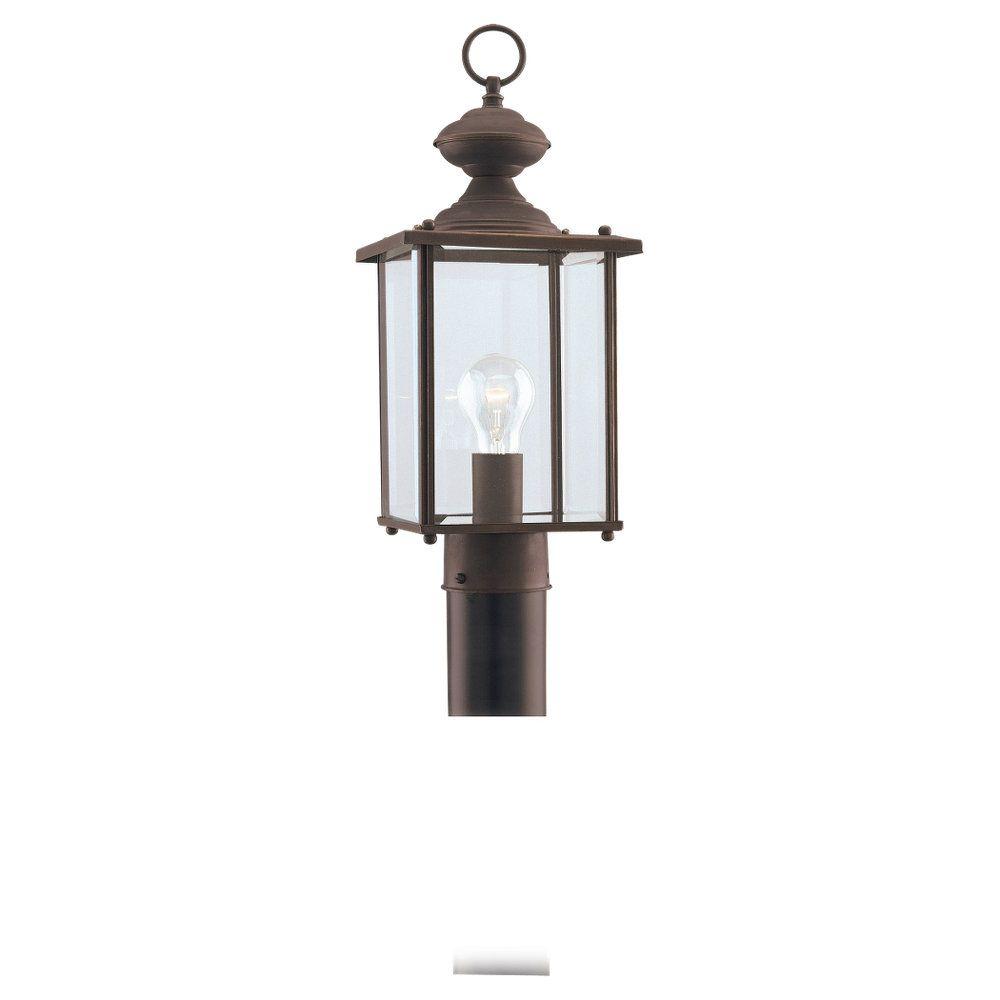 1 Light Antique Bronze Incandescent Outdoor Post Lantern