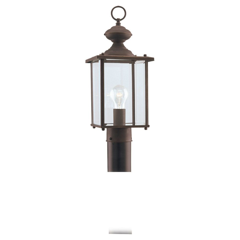 Sea Gull Lighting 1-Light Antique Bronze Outdoor Post Lantern
