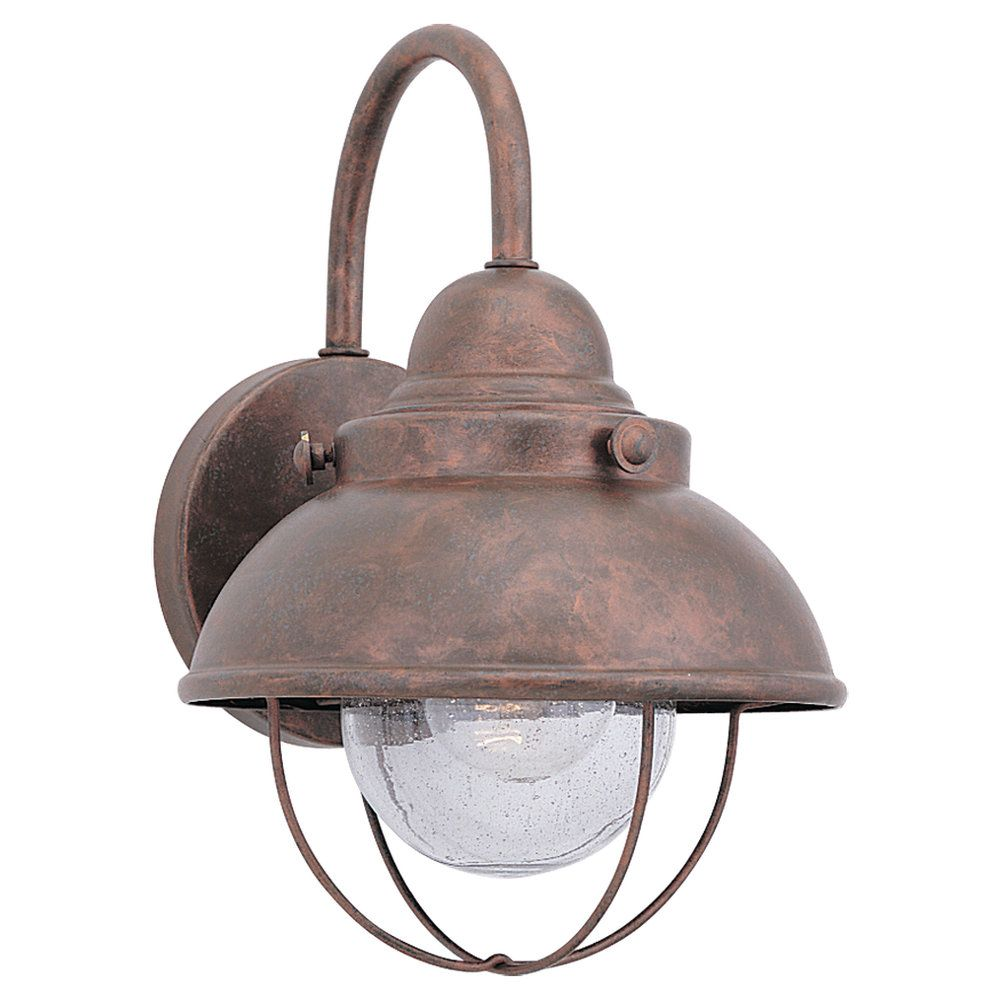 1 Light Weathered Copper Incandescent Outdoor Wall Lantern 8870-44 Canada Discount