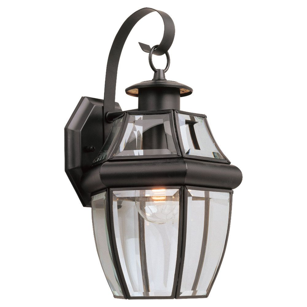 1 Light Black Incandescent Outdoor Wall Lantern
