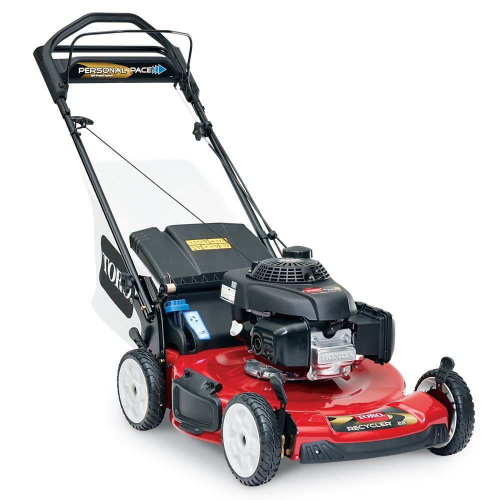toro   personal pace recycler lawn mower  honda engine  home depot canada