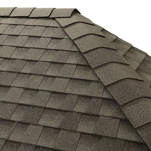 GAF TimberTex Slate Double-Layer Hip and Ridge Cap Shingles (20 lin. ft. per Bundle) (30-pieces)