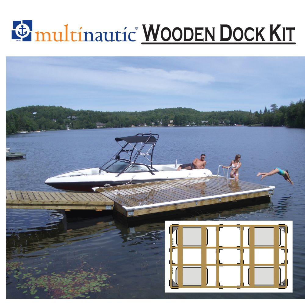 Kit de Quai Flottant à Usage Intensif, pour un quai de 5, 6 ou 8 pieds de large x 12 ou 16 pieds ...