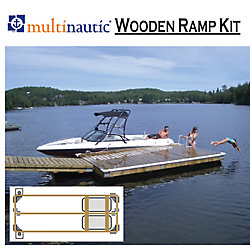 Multinautic 4ft. to 6 ft. W x 12 ft. or 16 ft. L Semi-Floating Ramp/Dock Kit