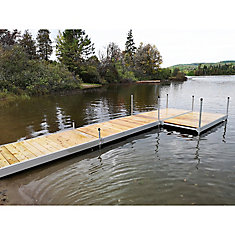 4 ft  x 8 ft  Aluminum Boxed Dock Frame Kit