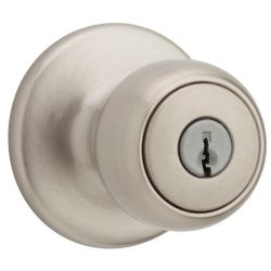 Weiser Fairfax Satin Nickel Keyed Knob