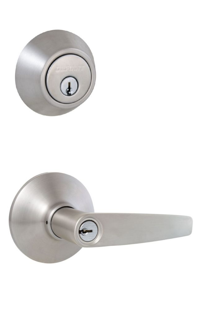Defiant Olympic Stainless Steel Single Cylinder Entry Lever Door Combo Pack