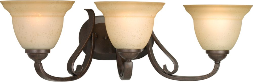Torino Collection Forged Bronze 3-light Wall Bracket
