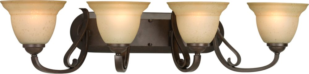 Torino Collection Forged Bronze 4-light Wall Bracket