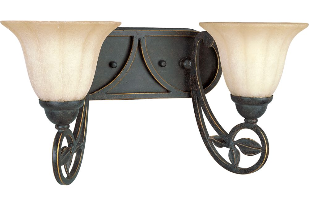 Le Jardin Collection Espresso 2-light Wall Sconce