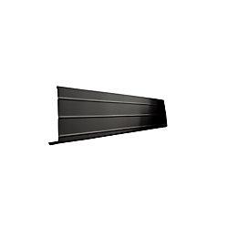 Peak Products Fascia Cover, 1 Inch x 6 Inch x 10 Feet. - Black