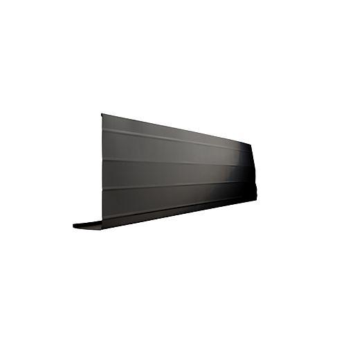 Peak Products Bordure d'avant-toit, 2 po. X 8 po. X 10 pi. - Noir