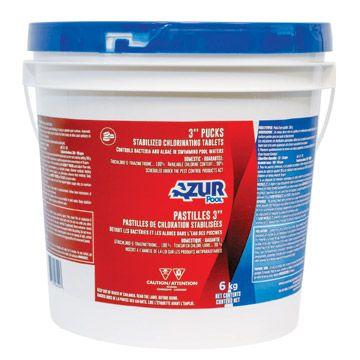 Pastilles de chloration stabilisées 3'', 6 kg
