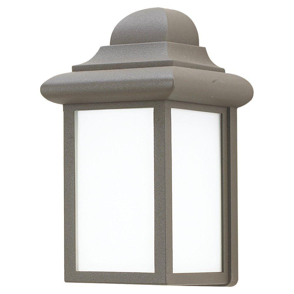 Lumière Seagull fixée au mur à une ampoule avec abat-jour blanc, Fini bronze