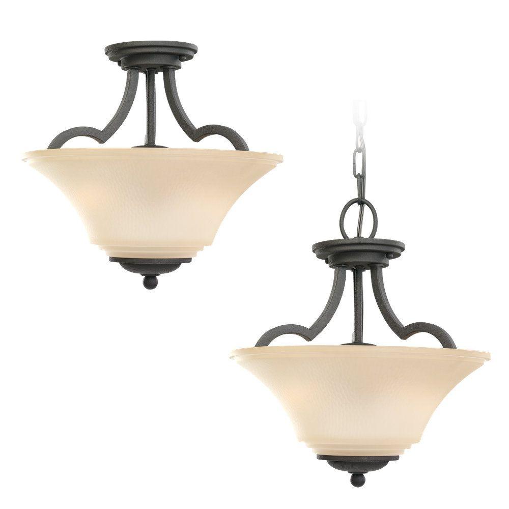 Sea Gull Lighting 2-Light Blacksmith Semi-Flush
