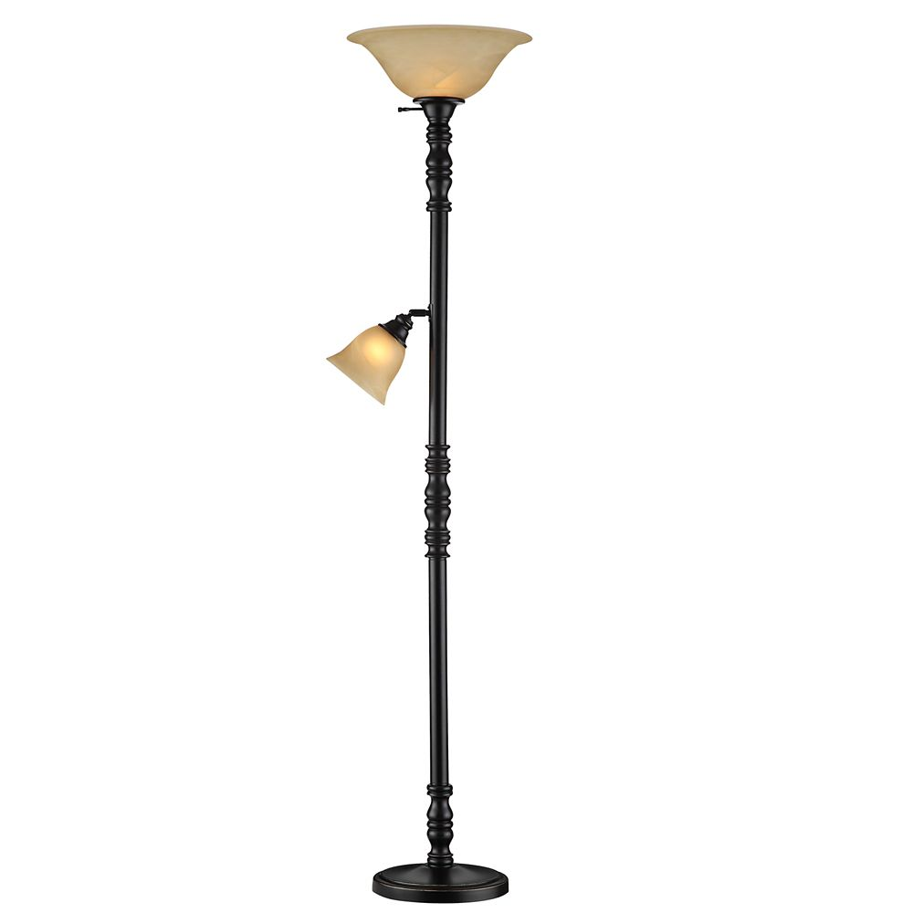 Hampton Bay Torchiere Style M/D Floor Lamp