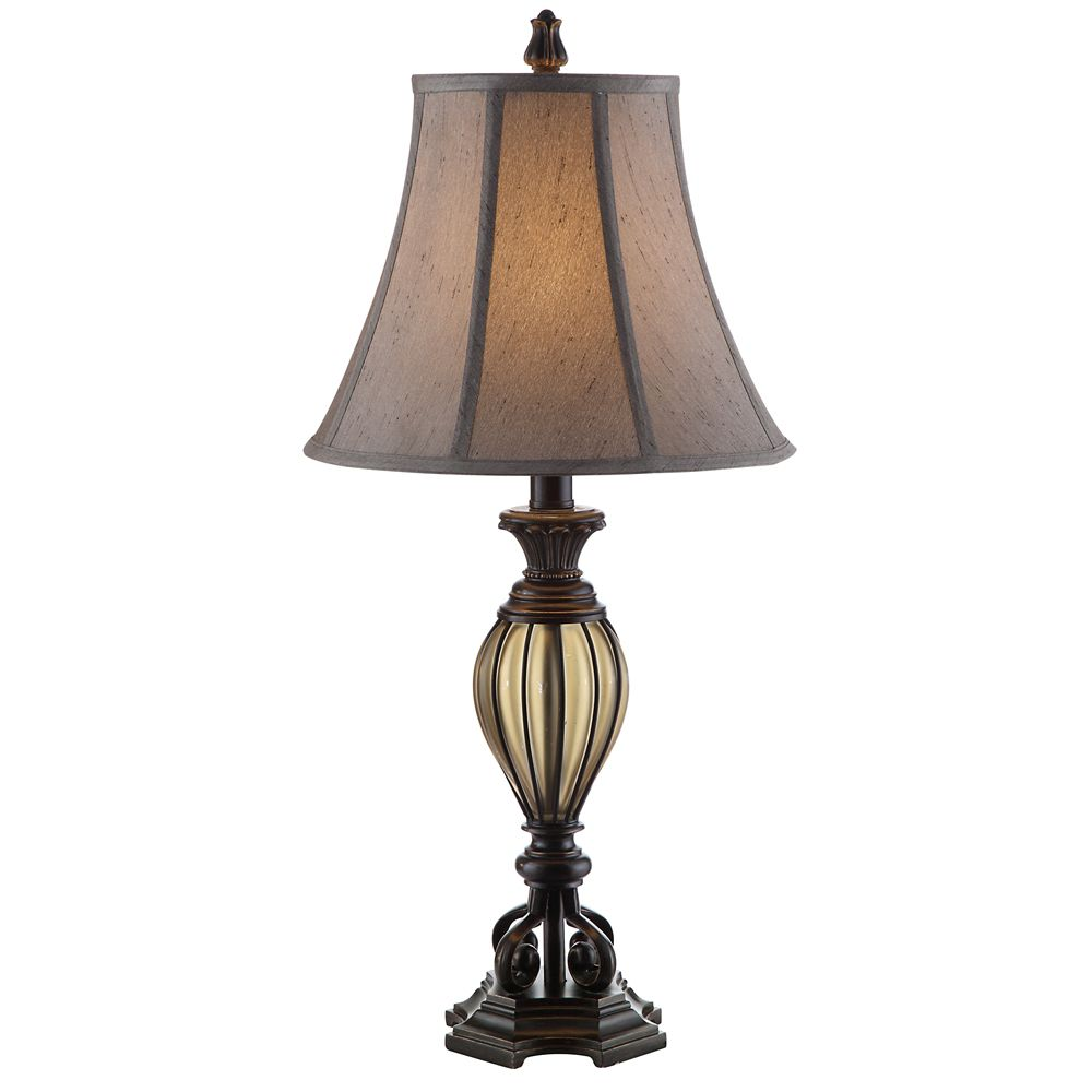 hampton bay timeless traditional table lamp the home depot canada. Black Bedroom Furniture Sets. Home Design Ideas