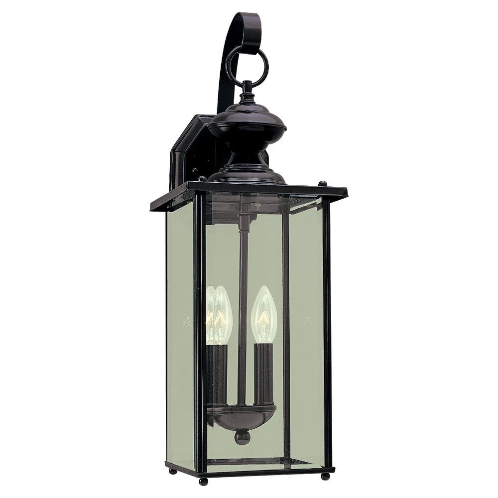 2-Light Black Outdoor Wall Sconce