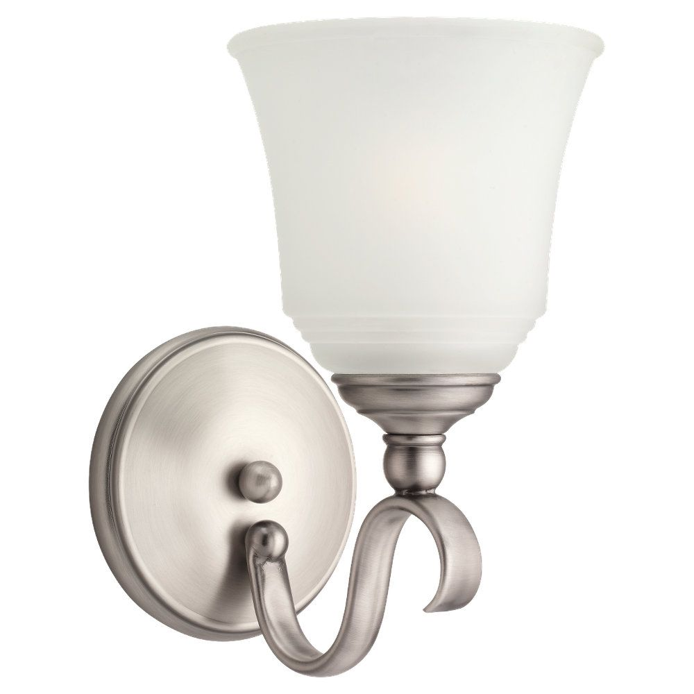 1 Light Antique Brushed Nickel Incandescent Sconce