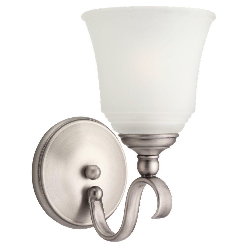 Sea Gull Lighting 1-Light Antique Brushed Nickel Sconce