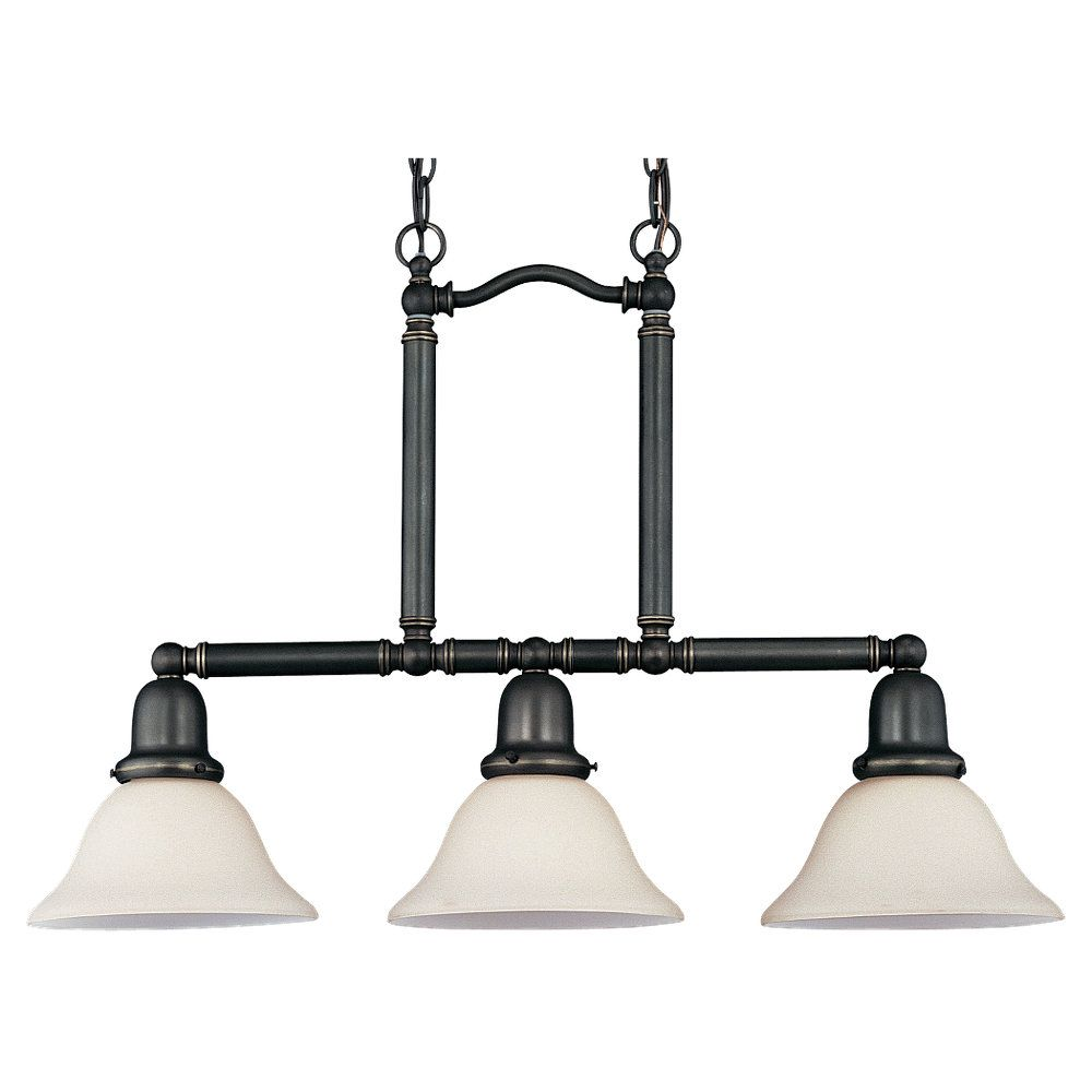 3 Light Heirloom Bronze Fluorescent Pendant