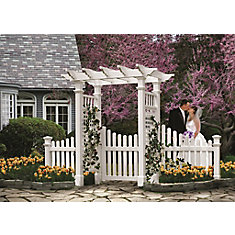Fairfield Arbour with Trim Gate & Wings