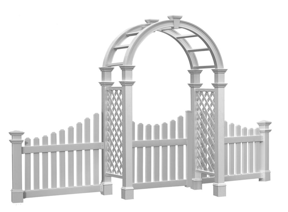 Nantucket Legacy Arbour with Trim Gate and Wings