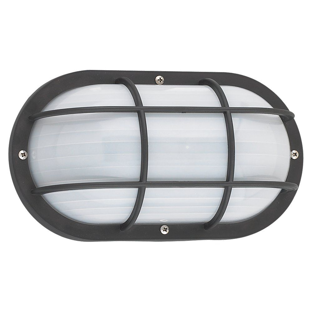 1 Light Black Fluorescent Outdoor Wall Sconce