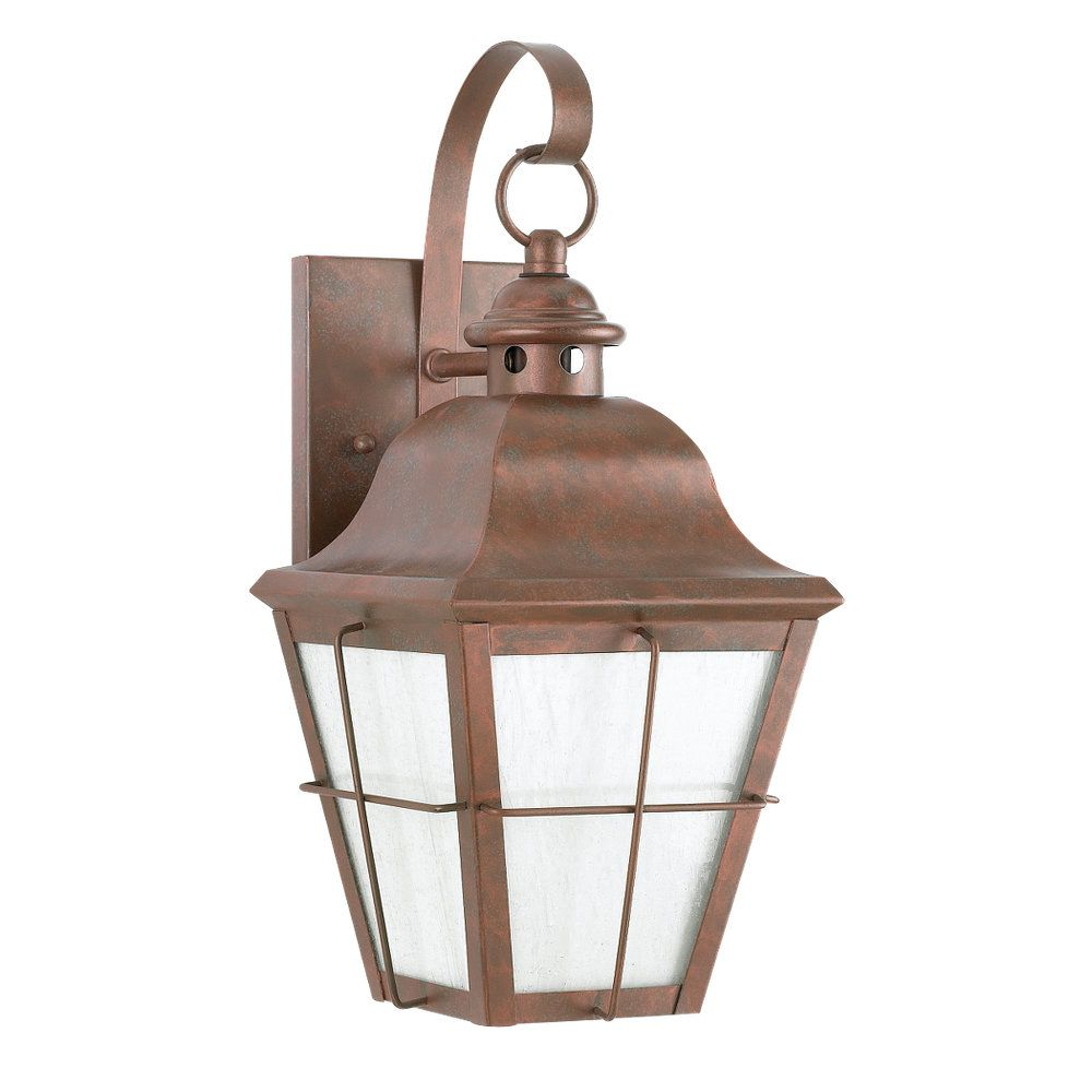 1-Light Weathered Copper Outdoor Wall Sconce