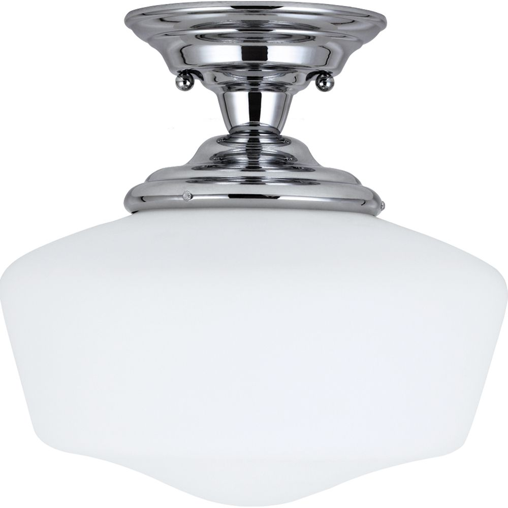 1-Light Chrome Semi-Flush
