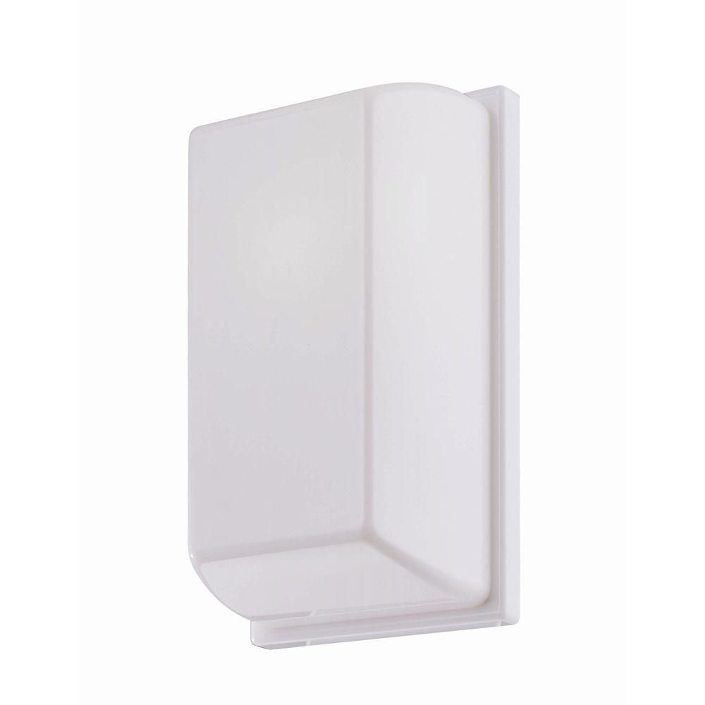 1 Light Wall Sconce White Finish White Shade