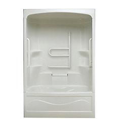 Liberty 60-inch x 88-inch x 34-inch 4-shelf Acrylic 1-Piece Right Hand Drain Tub & Shower