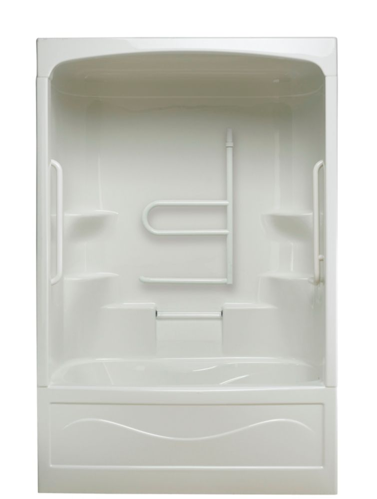 Liberty 1-piece Jet Air Tub and Shower Free Living Series - Grand- Right Hand