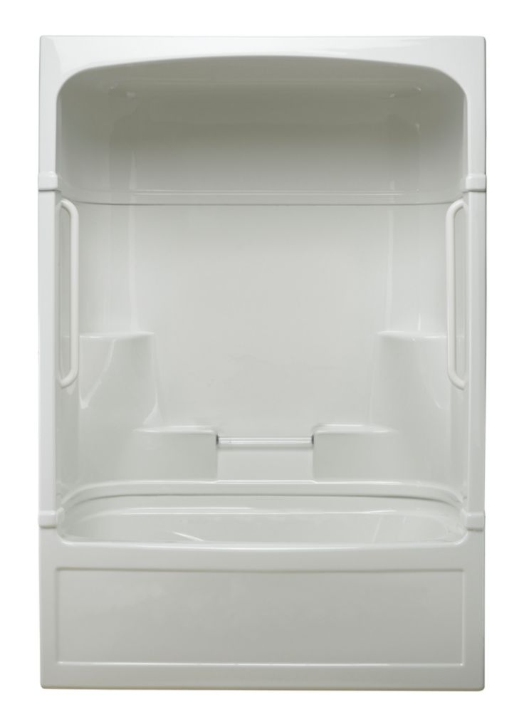 Empire 3-piece Tub and Shower Free Living Series - Light-Left Hand