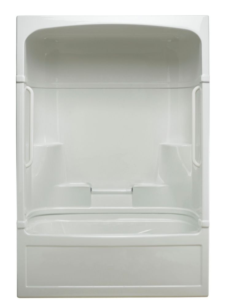Empire 3-piece Whirlpool Tub and Shower Free Living Series - Light- Right Hand