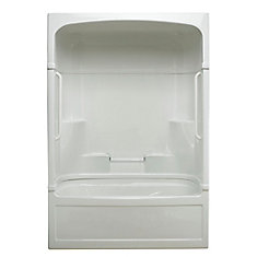 Empire 59.5-inch x 86.25-inch x 32-inch 4-shelf Acrylic 3-Piece Right Hand Drain Tub & Shower