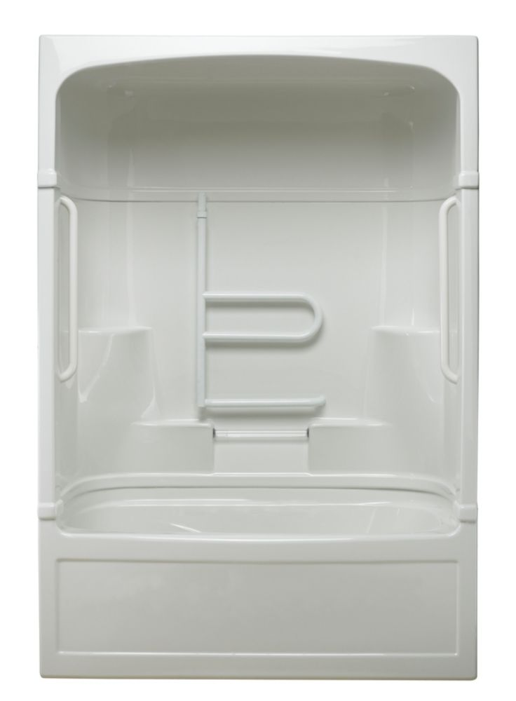 Empire 3-piece Jet Air Tub and Shower Free Living Series - Grand-Left Hand