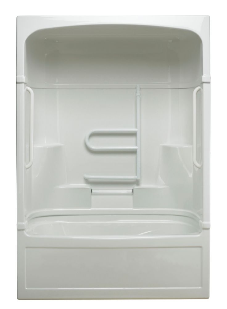 Empire 3-piece Jet Air Tub and Shower Free Living Series - Grand- Right Hand